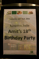 Amit's 18th Birthday Party, 6th February 2016.
